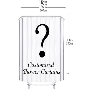 customized shower curtain waterproof polyester fabric 7 sizes sh