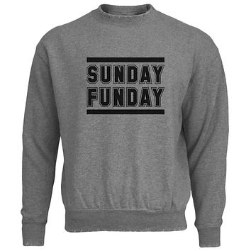 Sunday Funday Mens Destroyed Sweatshirt