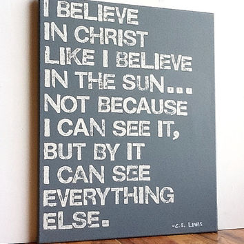 16X20 Canvas Sign  I Believe In Christ by EpiphanysCorner on Etsy