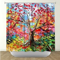Aja-Ann's 'Story of the Tree 59' | Artistic Shower Curtains