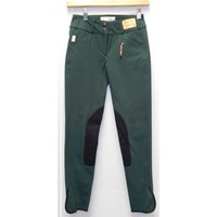 TS 1967 Black Forest w/Black Knee Patch Low Rise Front Zip Breech