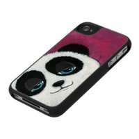 Blue Eyed Panda Bear | iPhone 4 Case from Zazzle.com