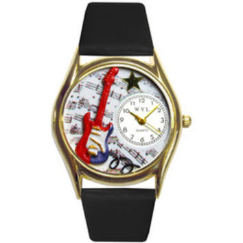 Electric Guitar Watch Small Gold Style