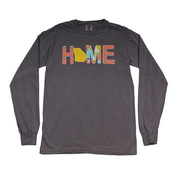Georgia Home Long Sleeve Tee in Gray by Southern Roots
