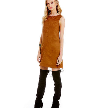 Sanctuary Clothing Faux-Suede Village Shift Dress | Dillards