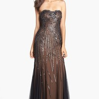 Sean Collection Embellished Strapless Trumpet Gown | Nordstrom