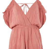 Cold Shoulder Playsuit | Topshop