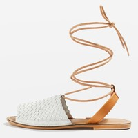 HULA Woven Sandals - Flats - Shoes