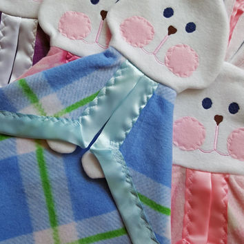 Blue and Green Plaid Fisher Price Replica Lovey Security Blanket