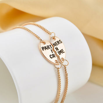 'A Partners in Crime Bracelets for BFF