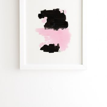 Viviana Gonzalez Minimal black and pink III White Framed Wall Art | Deny Designs