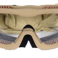 Lancer Tactical Airsoft Safety Goggles, Vented, Desert Tan Frame, Clear Lens