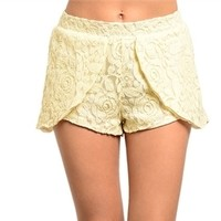 Ivory Lace Fold Over Short from Now and Again Co.