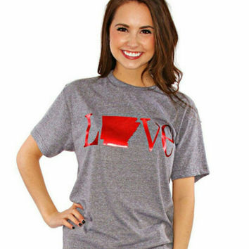 Charlie Southern Classic State Love Tee - Arkansas (Gray)