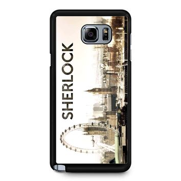 Sherlock Holmes Wallpaper Samsung Galaxy Note 5 Case