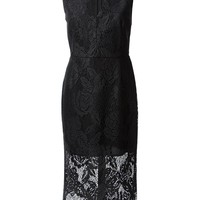 MSGM sleeveless lace midi dress