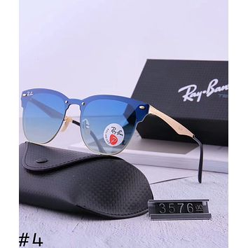 RayBan 2018 new men and women aviator sunglasses color film polarized sunglasses #4
