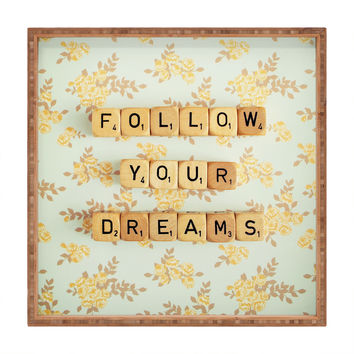 Happee Monkee Follow Your Dreams Square Tray