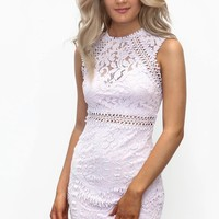Hard To Get Lavender Lace Sleeveless Dress