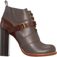 Chloe Belted Lace-Up Ankle Boot at Barneys.com