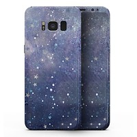 Abstract Blue Grungy Stars - Samsung Galaxy S8 Full-Body Skin Kit