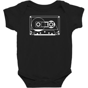 audio cassette 80's 90's party hip hop nostalgia retro Baby Bodysuit