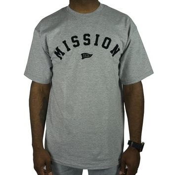 On A Mission Tee in athletic heather