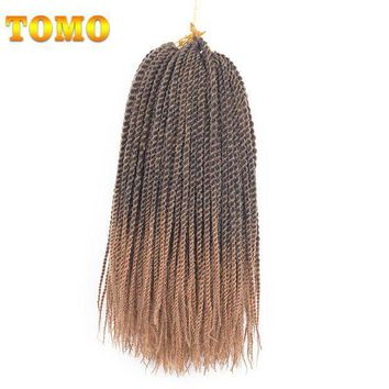 CREY78W TOMO Products 14 inch Ombre Senegalese Twist Crochet Hair Weave 9packs 30 strands Hign Temperature Fiber Crochet Braids