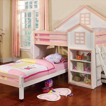 Jocelyn Twin over Twin Playhouse Loft Bed