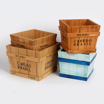 Vintage Wooden Storage Box Home Decor [6282504518]