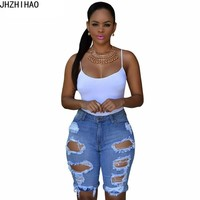 2017 short feminino sexy Summer blue Shorts Women High Waist Shorts Woman Denim Shorts Plus size