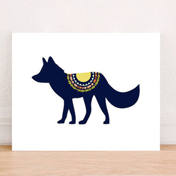 Wolf Tribal Digital Art Print Instant Download, Forest  Art Print, Nursery Art Print, Nursery Wall Art, Tribal Art, Mountain Decor