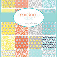 Mixologie by Studio M, 10 inch squares, layer cake, Moda fabric