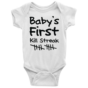 Baby's First Kill Streak Baby Onesuit