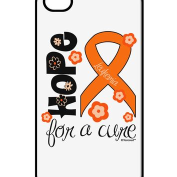 Hope for a Cure - Orange Ribbon Leukemia - Flowers iPhone 4 / 4S Case  by TooLoud
