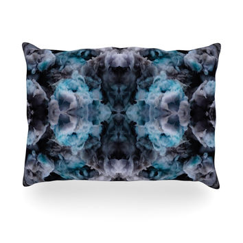 "Akwaflorell ""Abyss"" Blue Black Oblong Pillow"