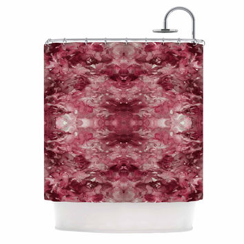 "Ebi Emporium ""Tie Dye Helix, Red "" Burgundy Abstract Shower Curtain"
