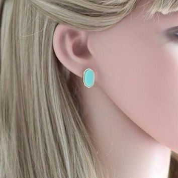 Sale! Kendra Scott Inspired Small Oval Stud Earrings