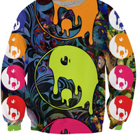 Drippy Yin Yang Crewneck Sweatshirt