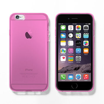 Pink soft clear iPhone 6 case, iPhone 5s case, DIY project