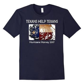 """TEXANS HELP TEXANS"" Hurricane Harvey Pride Flag T-shirt"