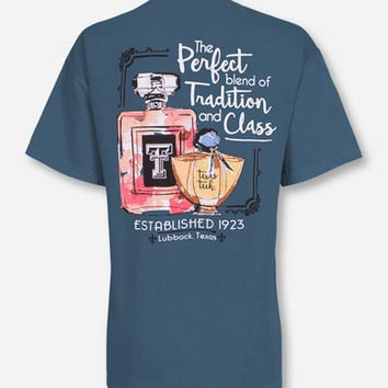 """Texas Tech """"Tradition & Class"""" on Ice Blue T-Shirt"""