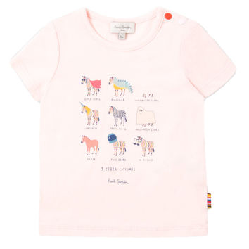 Paul Smith Baby Girls Pink Zebra Print Top