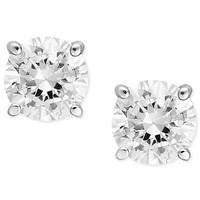 Diamond Earrings, 14k White Gold Diamond Stud Earrings (1/2 ct. t.w.)