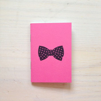 Small Notebook: Bow Tie, Pink, For Him, Men, Favor, Hipster, Wedding, Gift, Unique, Notebook, Journal, Christmas, Stocking Stuffer, VV320