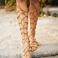 Schutz Womens Desert Horizon Tall Gladiator Sandals