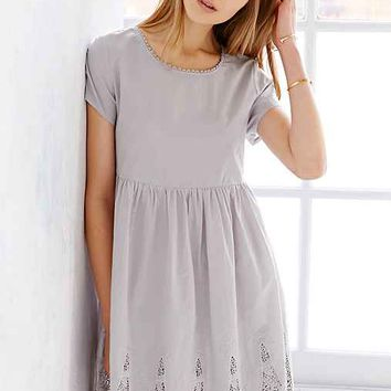 Little White Lies Silvie Dress- Light Grey