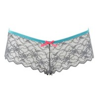 Caged-Back Lace Cheeky Panties by Charlotte Russe