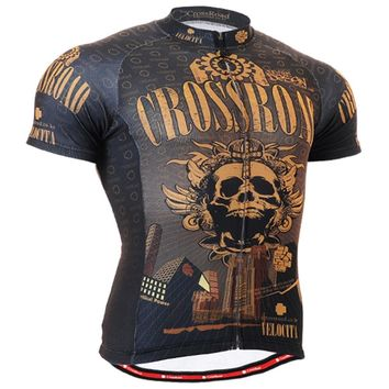 Life on track Skull Mens Cycling Jerseys Bike Top Shirts Breathable Bicycle Clothes Clothings Outdoor Sports Wears