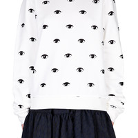 Multiple Eye Sweater - WHITE | KENZO | Green with Envy